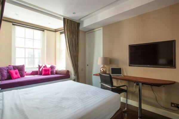Bedroom, Duke of York Street Serviced Apartment, St. James's