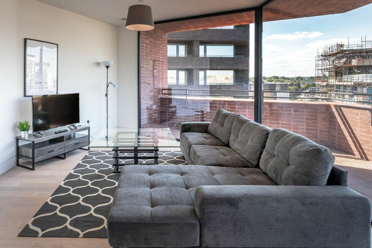 Living Area,  Hoxton Press Serviced Apartments, London