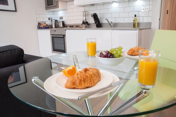 Kitchen, Chandos Place Serviced Apartments, Covent Garden, London