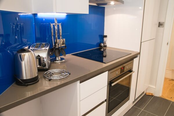 Kitchen, Burleigh Mansions Serviced Apartments, Covent Garden, London