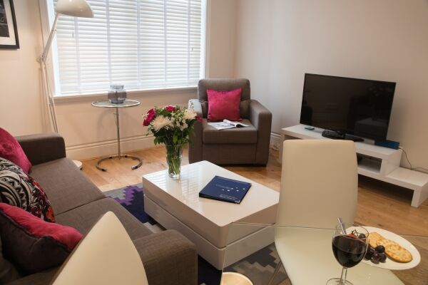Living Room, Burleigh Mansions Serviced Apartments, Covent Garden, London