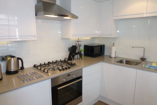 Kitchen, Shaftesbury Avenue Serviced Apartments, Soho, London