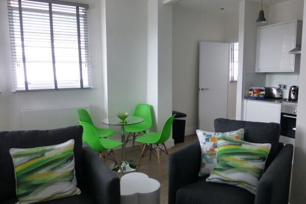 Living and Dining Area, Shaftesbury Avenue Serviced Apartments, Soho, London