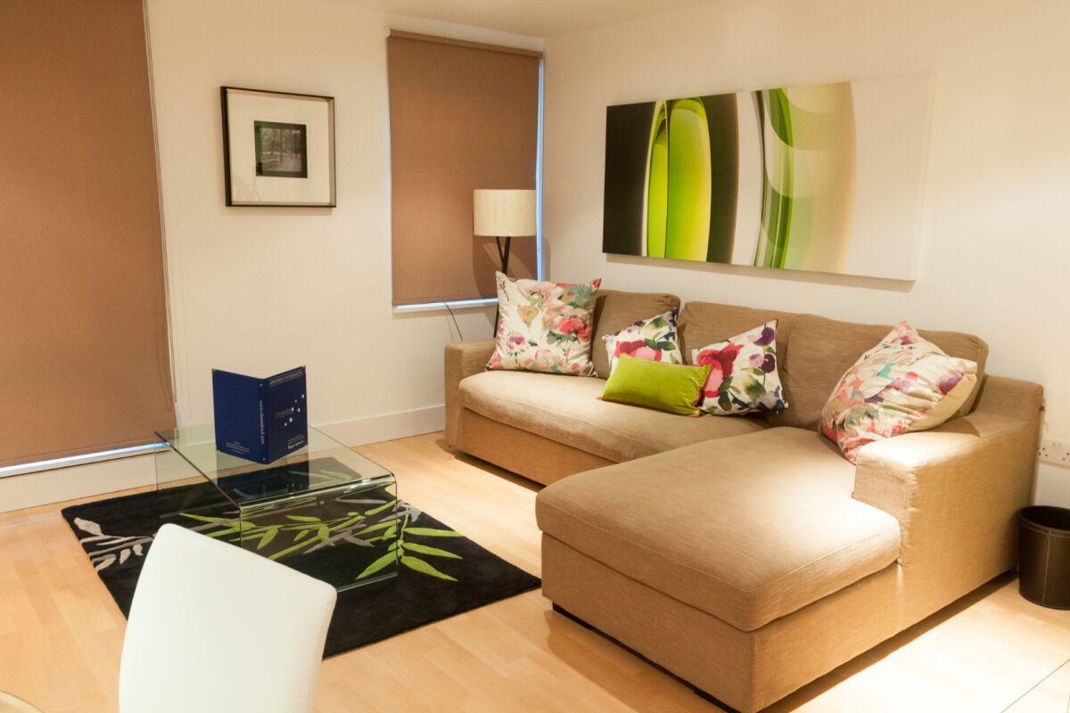 Living Area, Sir John Lyon House Serviced Accommodation, London