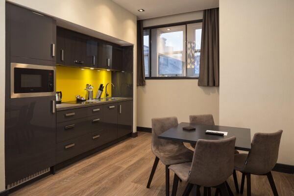 Kitchen, Corn Exchange Serviced Apartments, Manchester