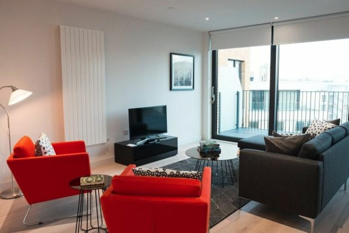 Sitting Area, Masthead House Serviced Apartments, Silvertown