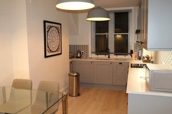 Kitchen and Dining Area, St Martin's Lane Serviced Apartments, London