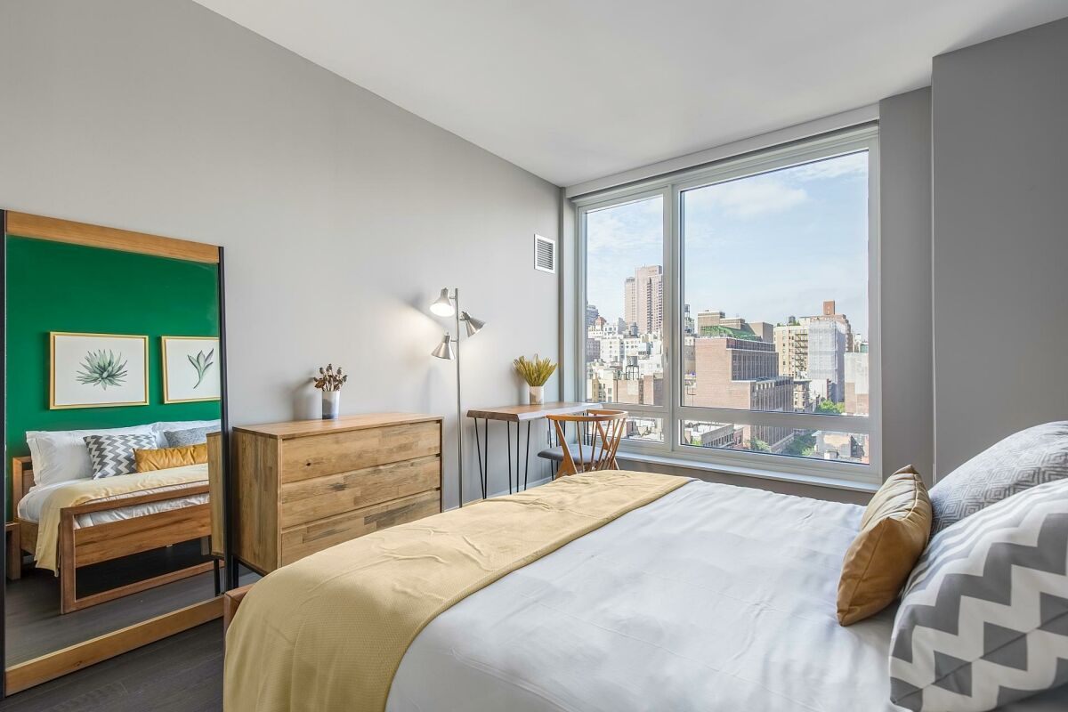 Bedroom, East 92nd Street Serviced Accommodation, New York