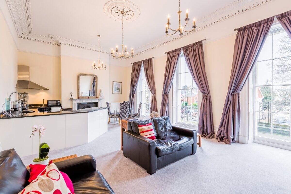 Living Room, Croft House Serviced Apartments, Cheltenham
