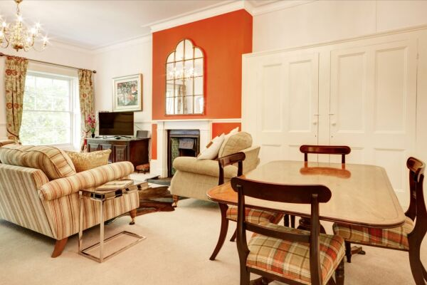 Living Room, Queens Lane Serviced Apartments, Cheltenham