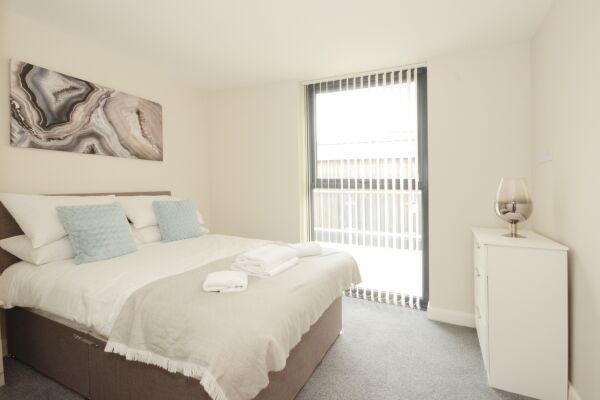 Bedroom, Victoria House Apartments, Leeds
