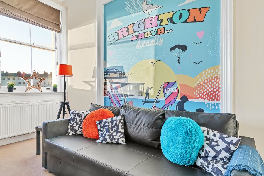 Grand Seaview Apartment - Hove, Brighton