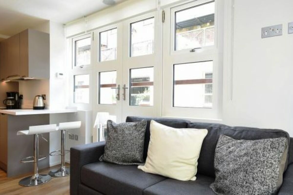 Living Area, Bruges Place Serviced Apartments, Camden Town