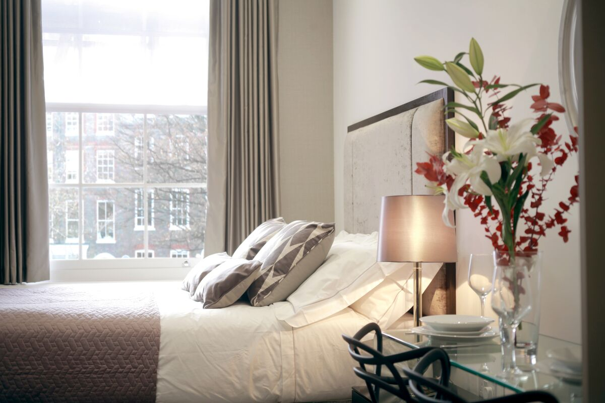 Bedroom, Golden Square Serviced Apartments, Piccadilly