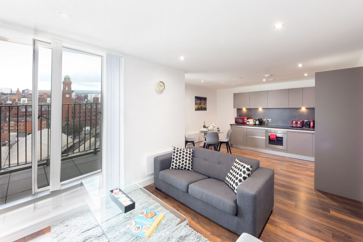 Living Area, Cambridge Street Apartments, Manchester
