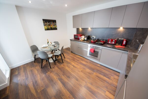 Kitchen, Cambridge Street Apartments, Manchester