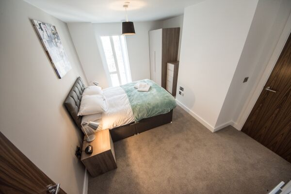 Bedroom, Cambridge Street Apartments, Manchester