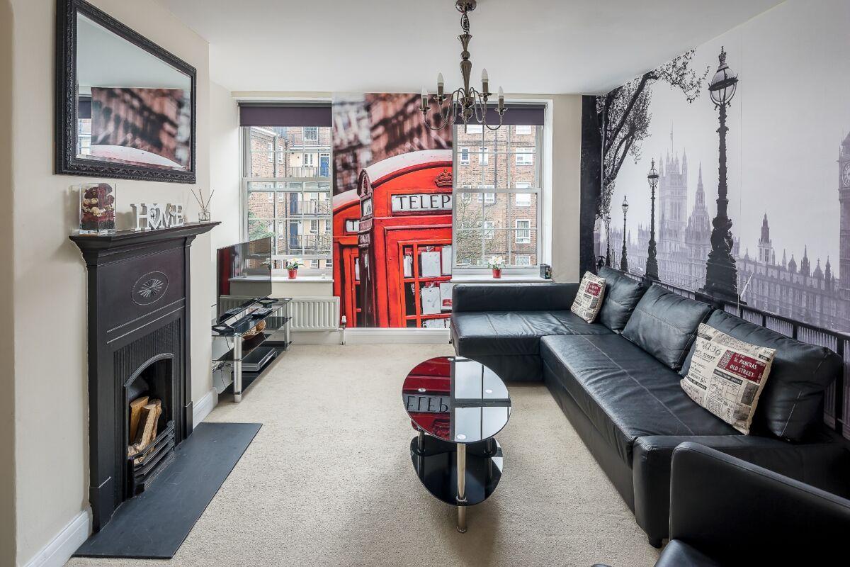 Living Area, London Bridge Serviced Apartment, London Bridge