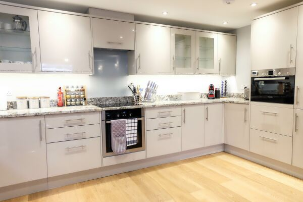 Kitchen, Eden House Serviced Accommodation, Cheltenham
