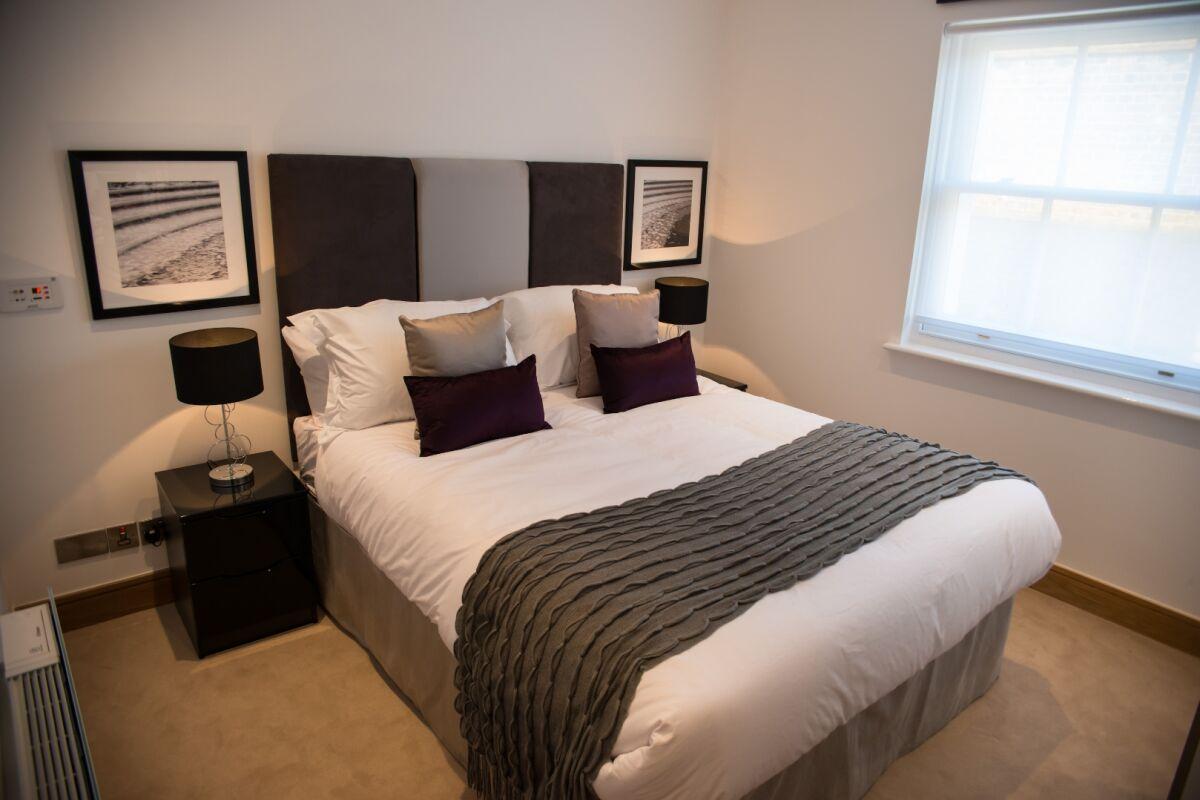 Bedroom, Durweston Street Serviced Apartments, Marylebone, London