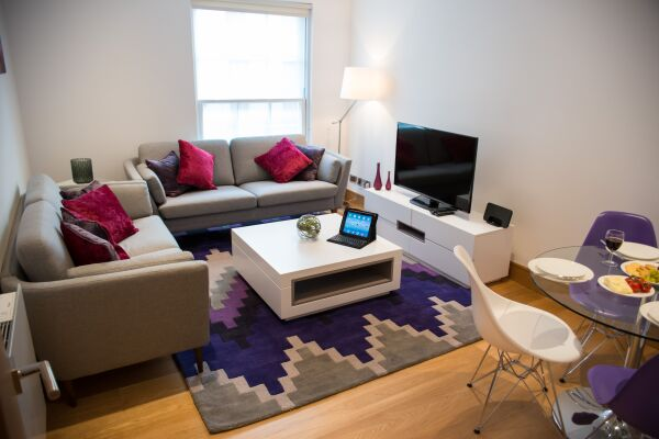 Living Room, Durweston Street Serviced Apartments, Marylebone, London