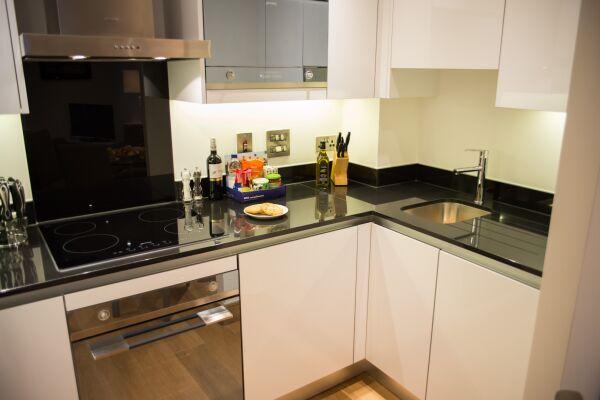 Kitchen, Durweston Street Serviced Apartments, Marylebone, London