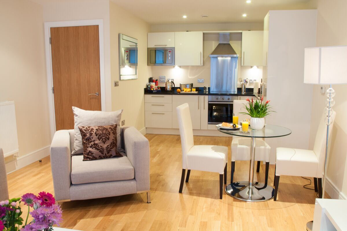 Living Space, Lanterns Court Serviced Apartments, Canary Wharf, London