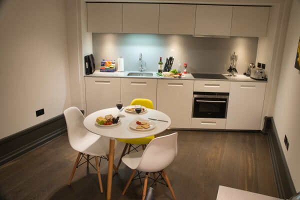 Kitchen and Dining Area, Garrick Street Serviced Apartments, Covent Garden