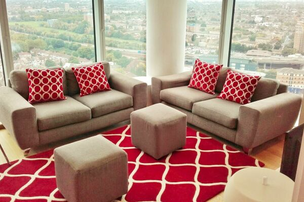 Living Area, Pioneer Point Serviced Apartments, Ilford, London