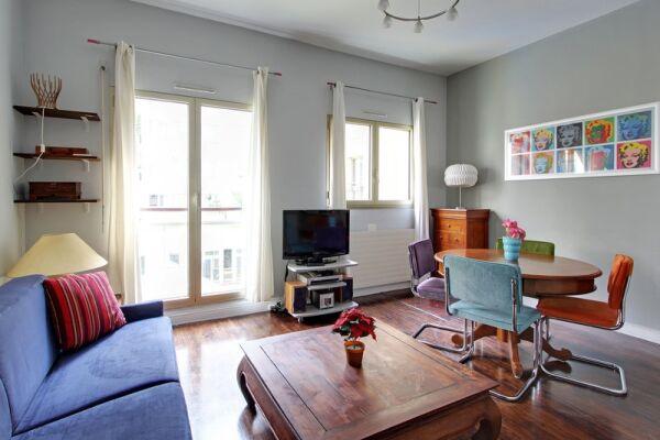 Living Area, Pompidou Serviced Accommodation, Paris