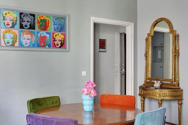 Dining Area, Pompidou Serviced Accommodation, Paris