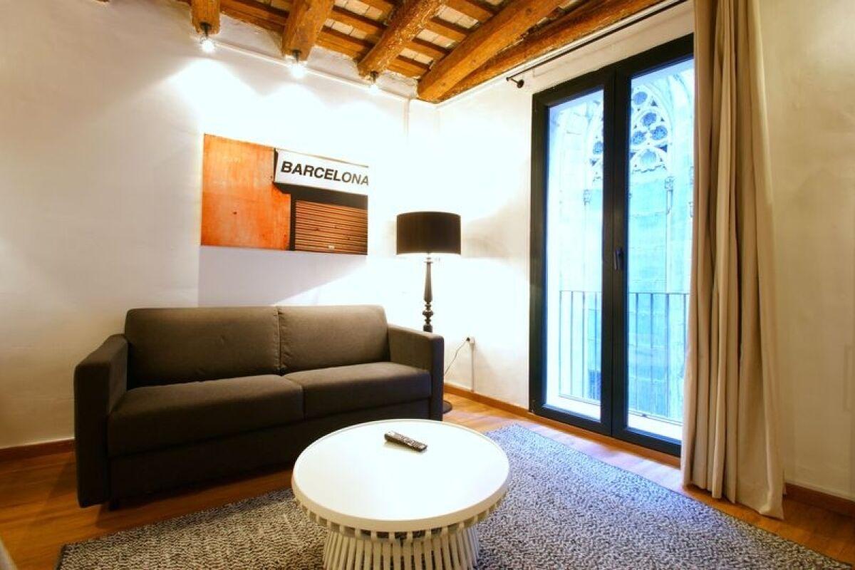 Living Area, Borne Basilica Serviced Apartments, Barcelona