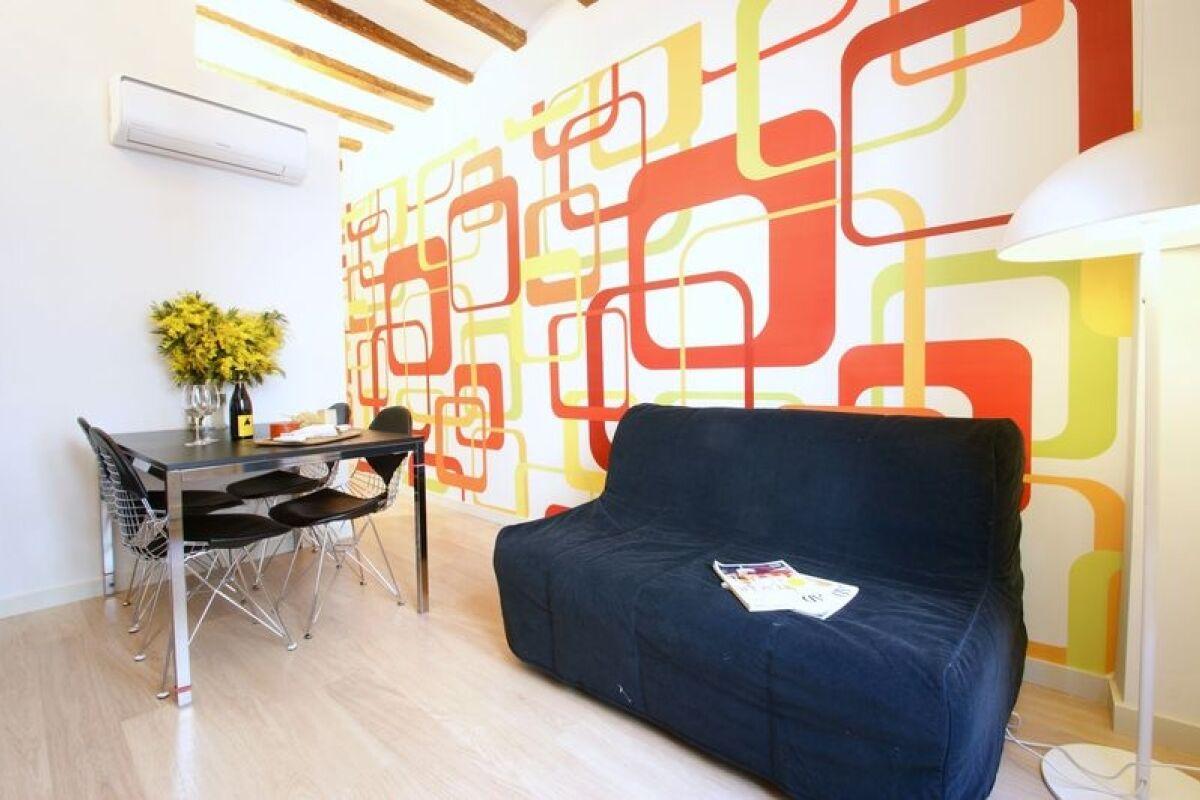 Living Area, Borne Pop Art Serviced Apartments, Barcelona