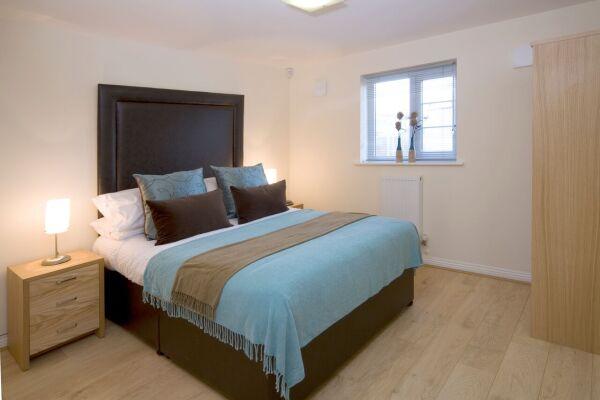 Bedroom, Cliddesden Place Serviced Apartments, Basingstoke