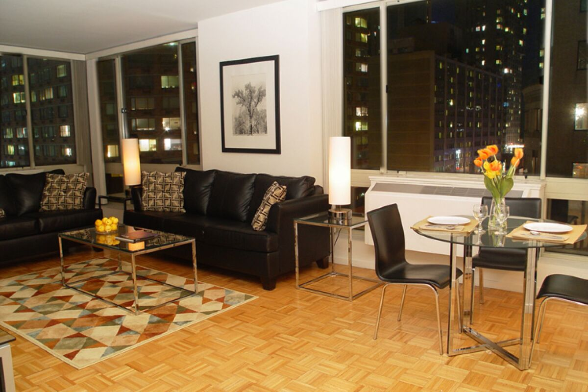 Living Room, Longacre House Serviced Apartments, Midtown, New York