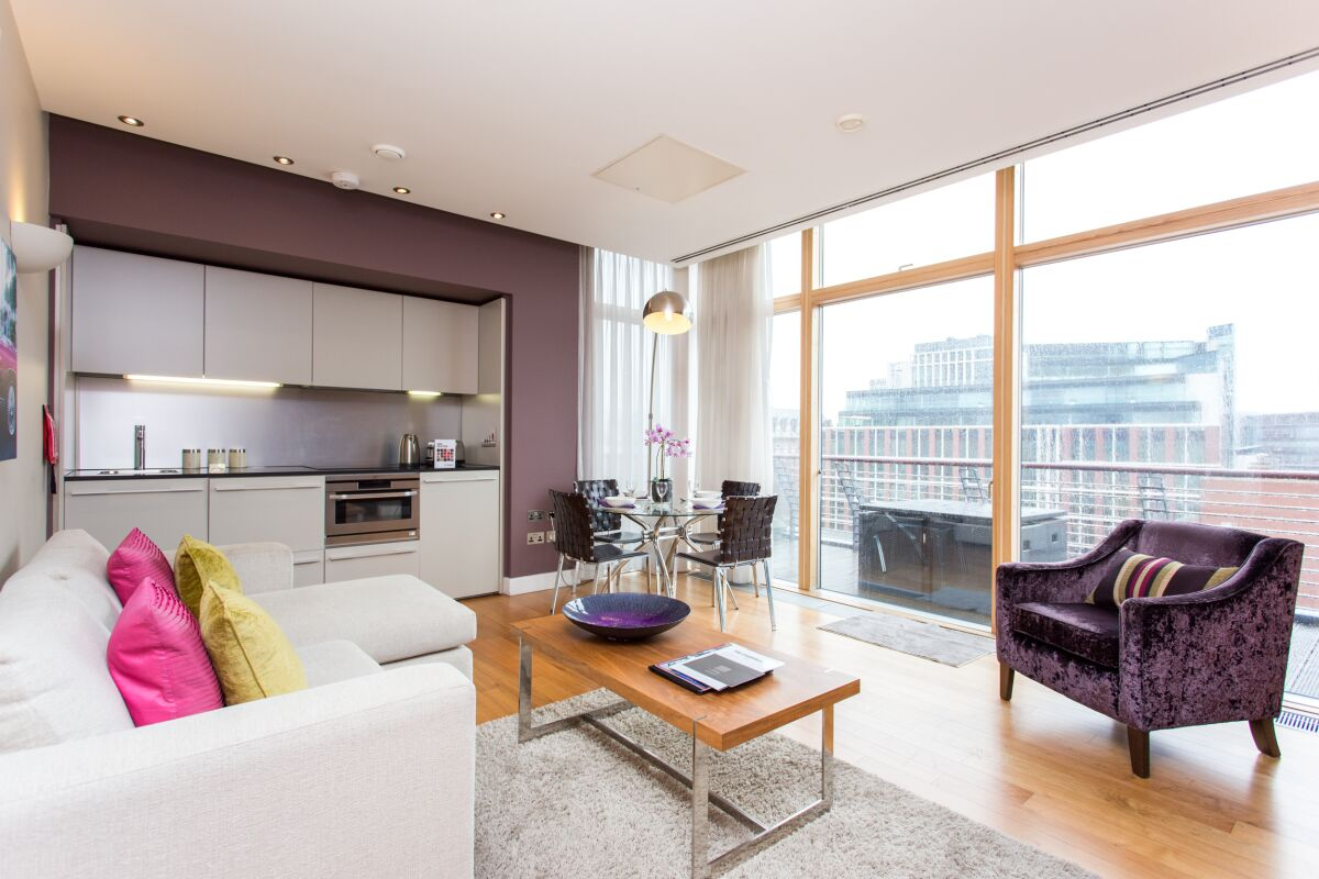 Living Area,  Park Place Serviced Apartments, Leeds