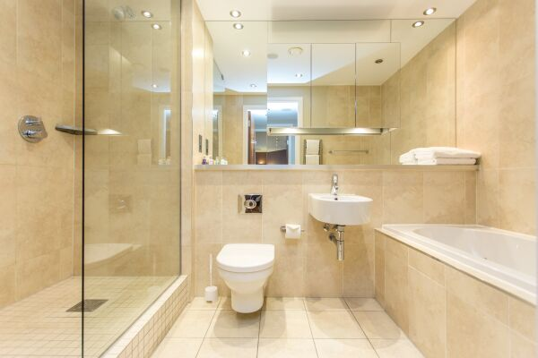 Bathroom,  Park Place Serviced Apartments, Leeds
