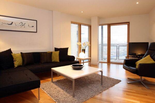 Living Area, Riverside West Serviced Apartments, Leeds