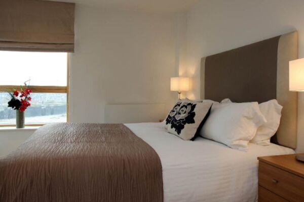 Bedroom, Riverside West Serviced Apartments, Leeds