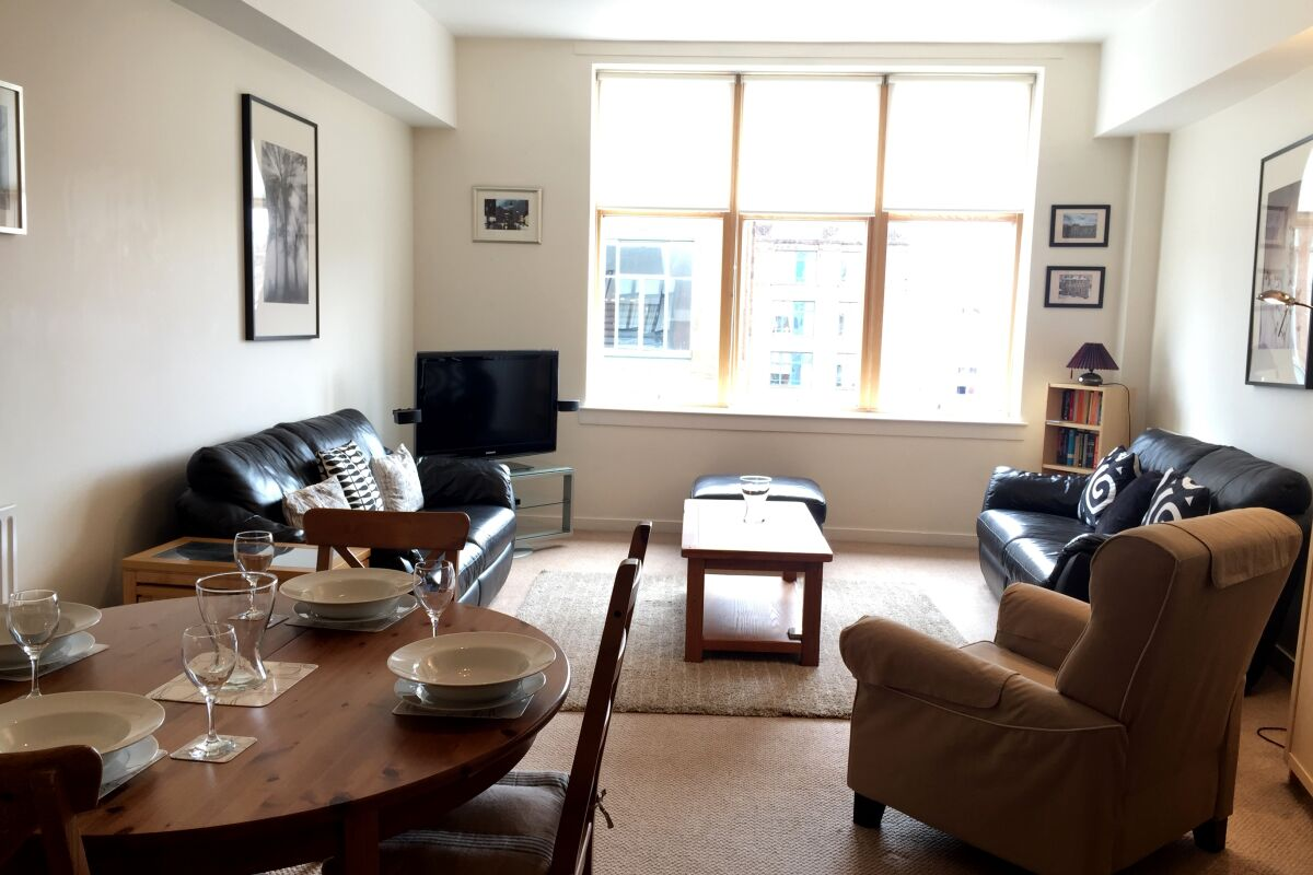 Living Room, Chrysalis Serviced Apartment, Glasgow