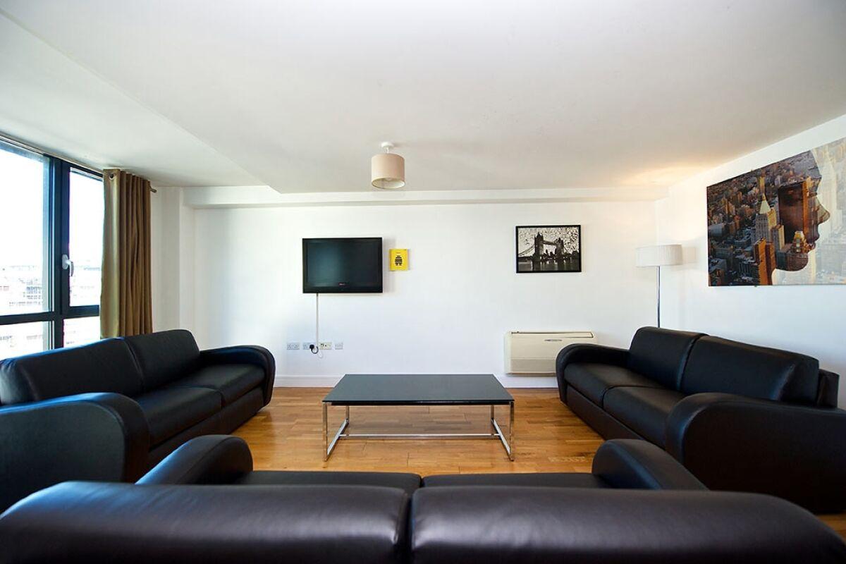 Living Area, Duke Street Serviced Apartments, Liverpool