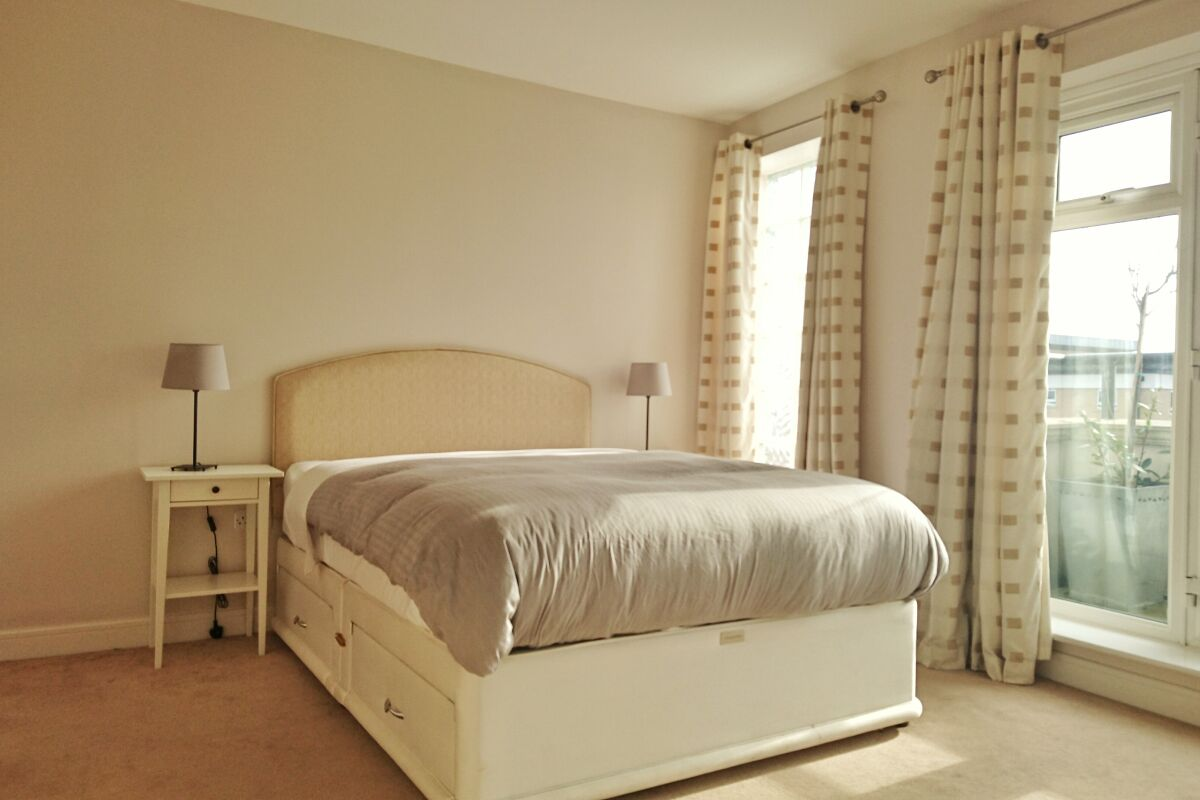 Bedroom, Hardwick House Serviced Apartment, Bromley