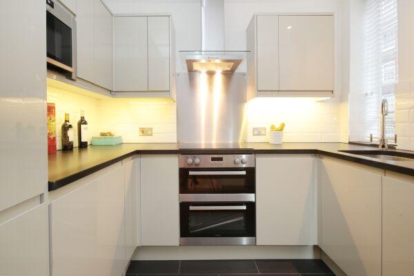 Kitchen, Sloane Avenue Serviced Apartments, South Kensington, London