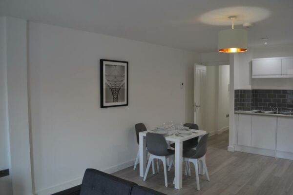 Kitchen and Dining Area, The Baltic Residence Serviced Accommodation, Liverpool