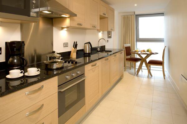 Kitchen, Commercial Road Serviced Apartments, Aldgate