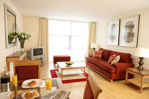 Living Area, Queen Street Serviced Apartments, Blackfriars