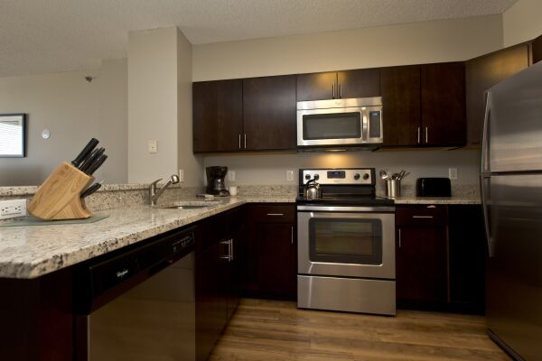 Kitchen, Bank Street Serviced Apartments, New York