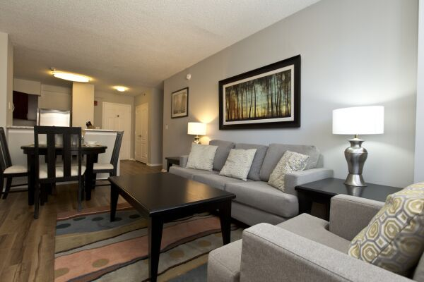Living Room, Bank Street Serviced Apartments, New York
