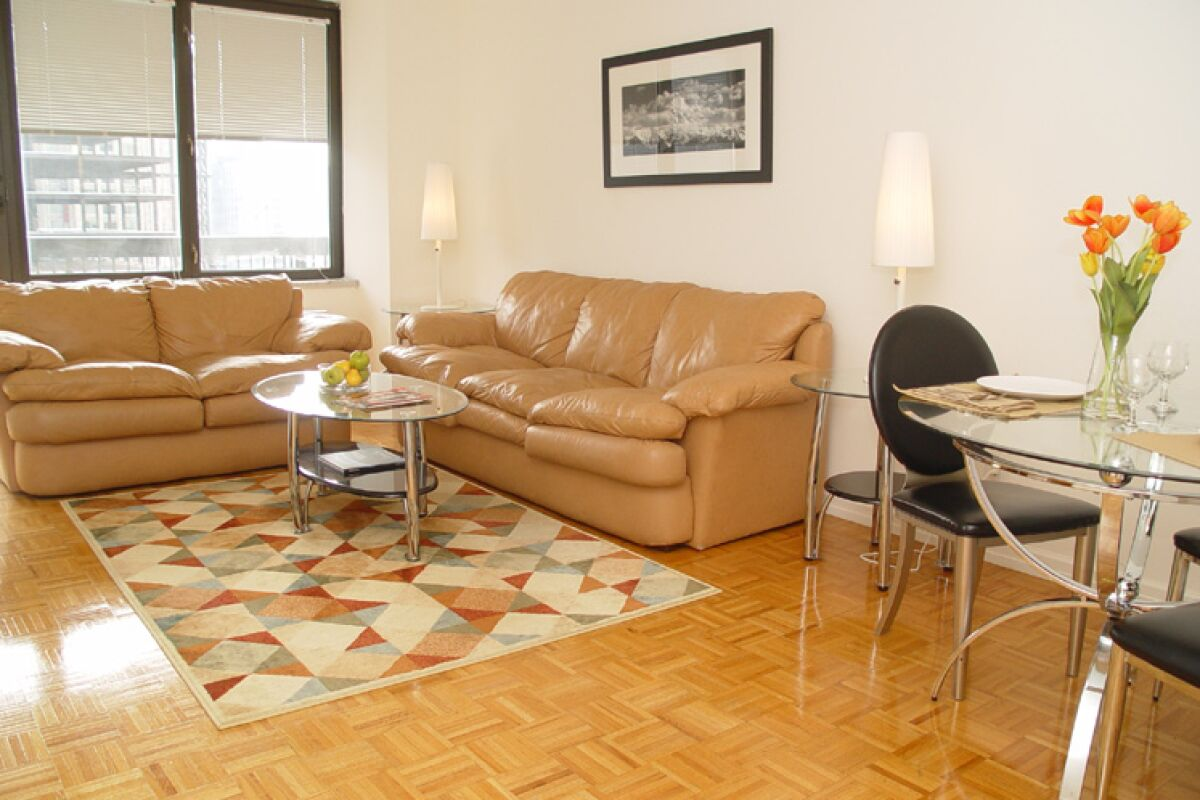 Living Room, Symphony Serviced Apartments, Midtown, New York