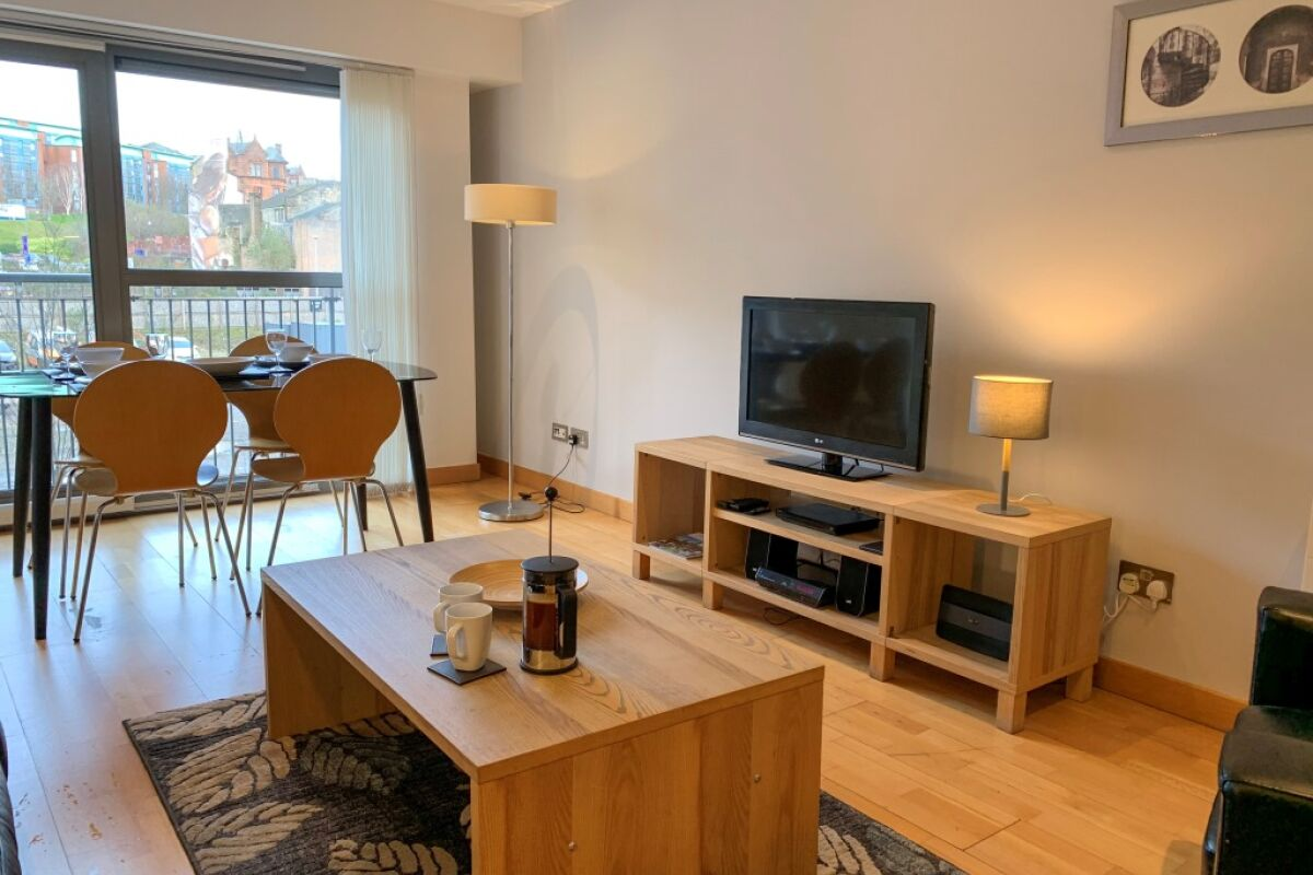 Living Area, College Serviced Apartment, Glasgow